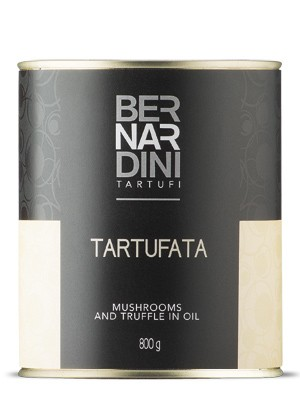 Mushrooms and truffle in oil 800g
